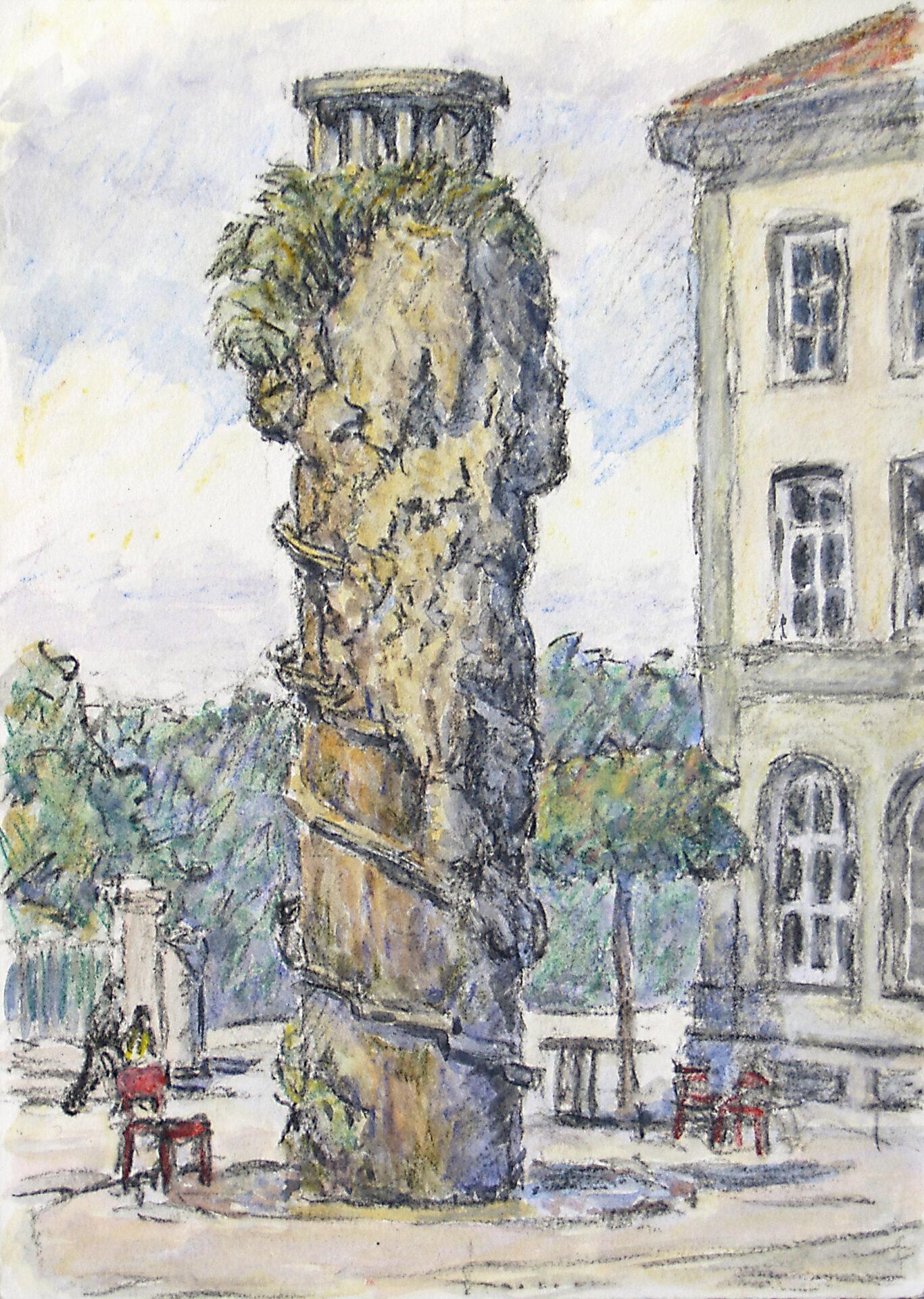 Bern Waisenhausplatz, Meret Oppenheim Brunnen