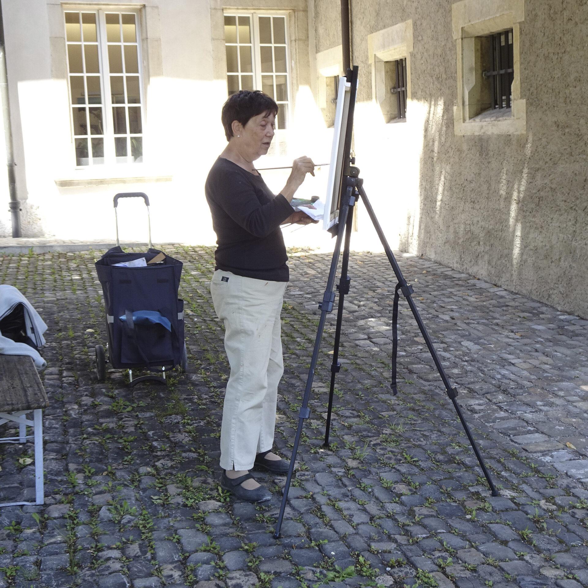 Im Hof von Schloss Nidau