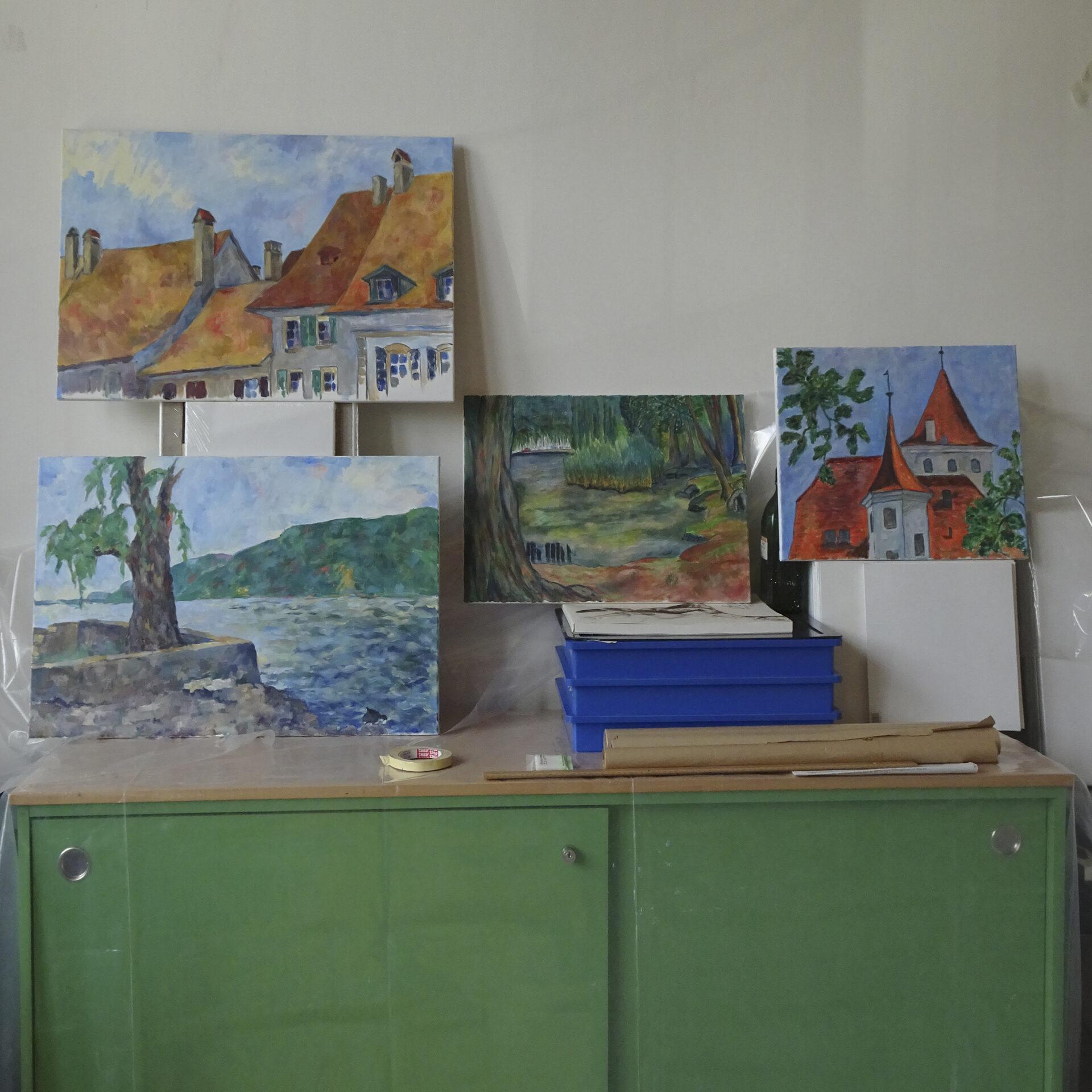 Im Sommerkurs-Atelier